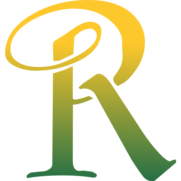 R in green and yellow