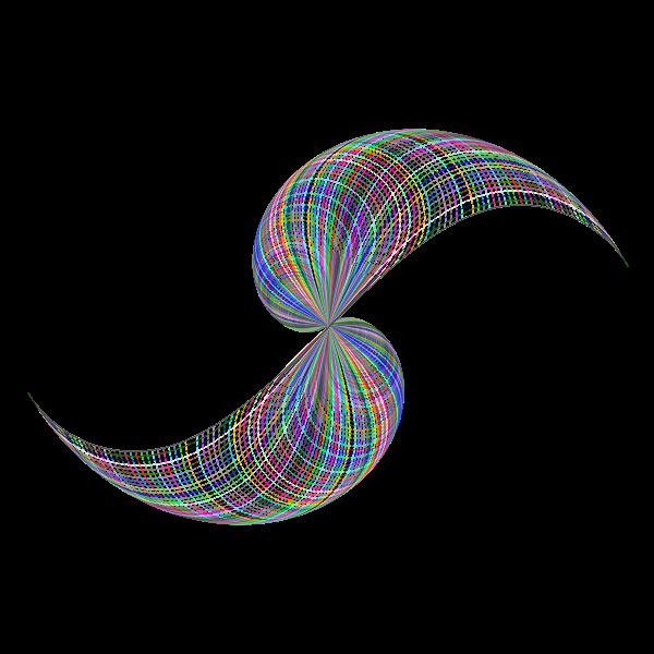 Prismatic Abstract Line Art Design 2