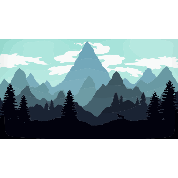 Digital landscape illustration