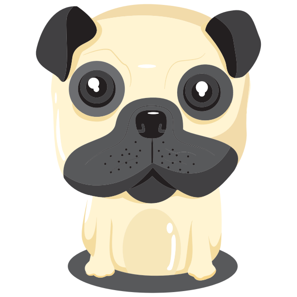Cartoon Dog Portrait