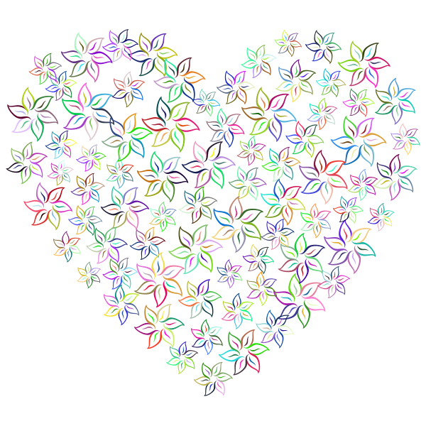 Floral Heart III Prismatic