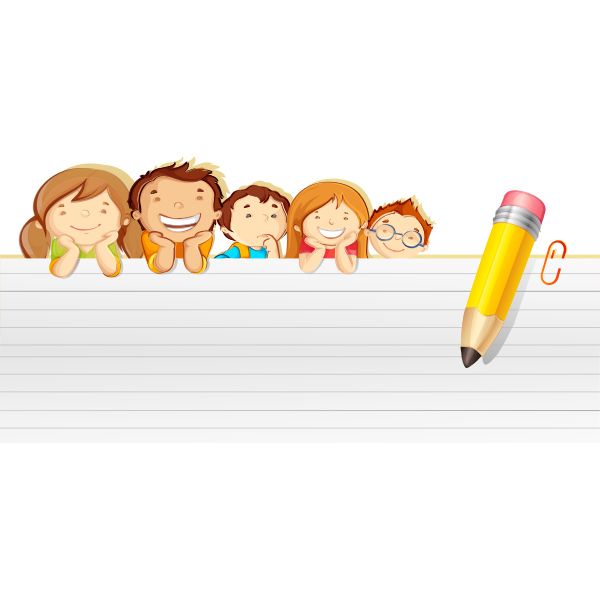 Kids with notepaper