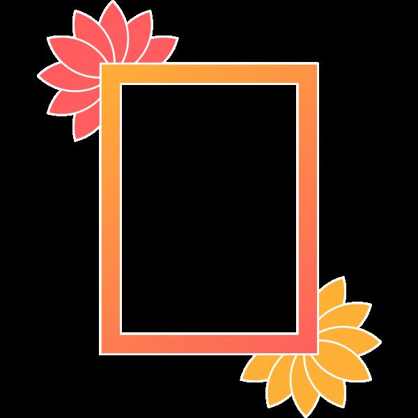 Rectangular frame 18