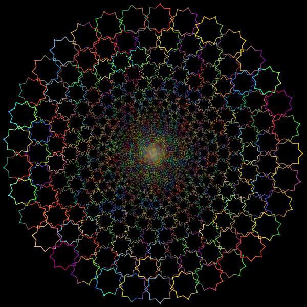 Abstract Line Art Vortex Prismatic II