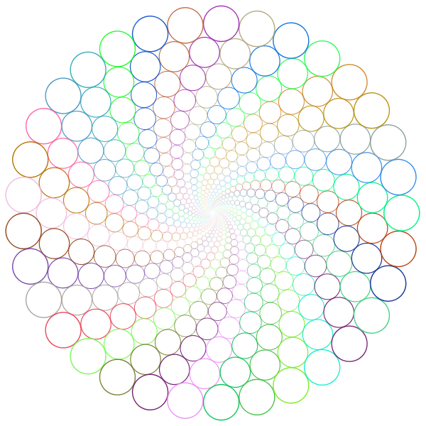 Circle Outlines Vortex Prismatic No BG