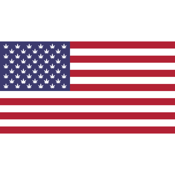 Marijuana US Flag 3