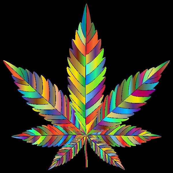 Marijuana Leaf Type II Prismatic 3