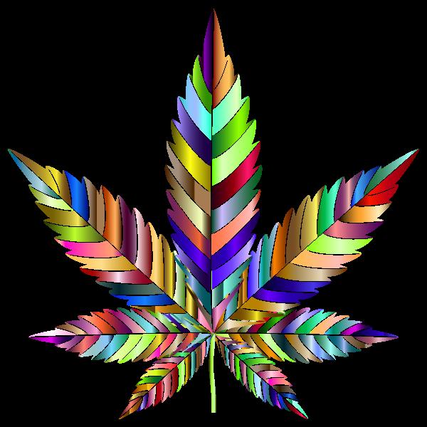 Marijuana Leaf Type II Prismatic 4