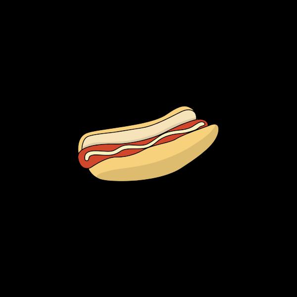 Simple Hot Dog Inside A Bun