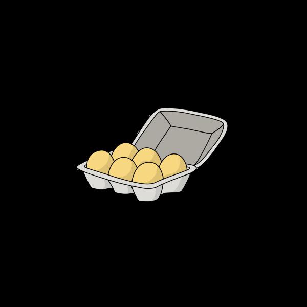 Half Dozen Eggs Open Carton