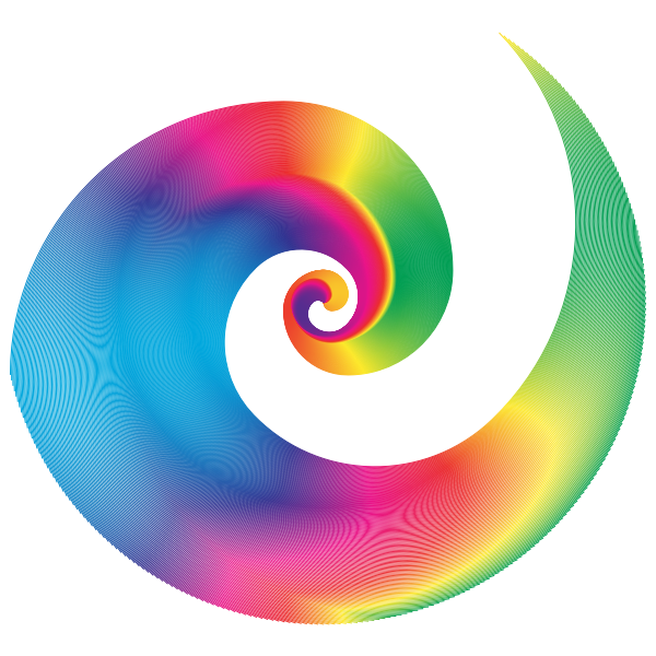 Golden Ratio Spiral Design Rainbow