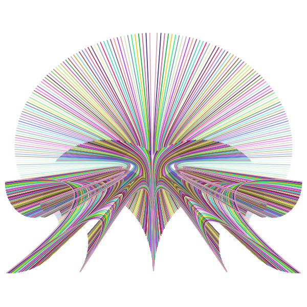 Prismatic Abstract Line Art Design 2