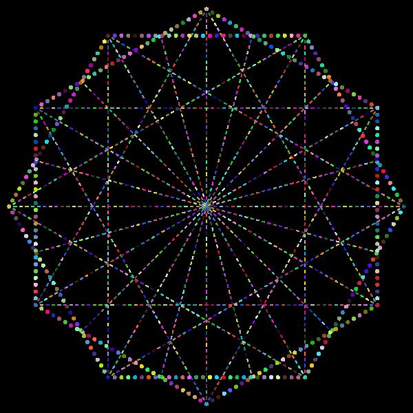 Simple Geometric Design Line Art Variation 2 Prismatic No BG