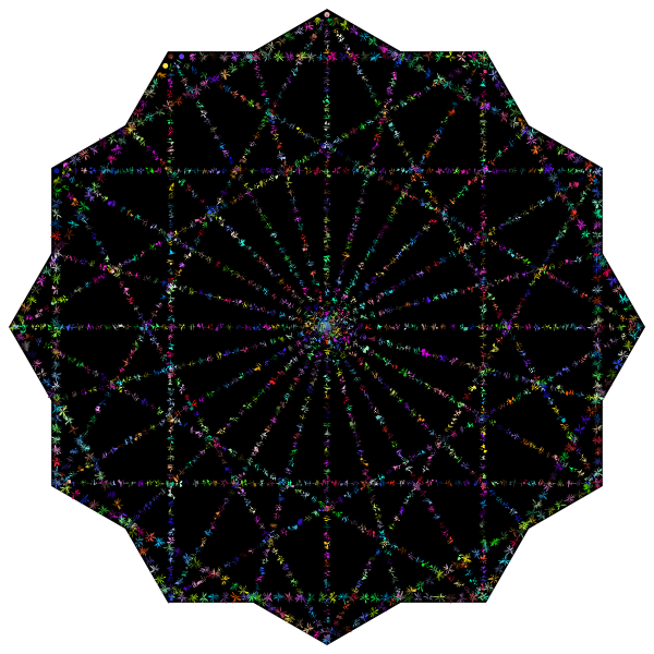 Simple Geometric Design Line Art Variation 2 Prismatic 2