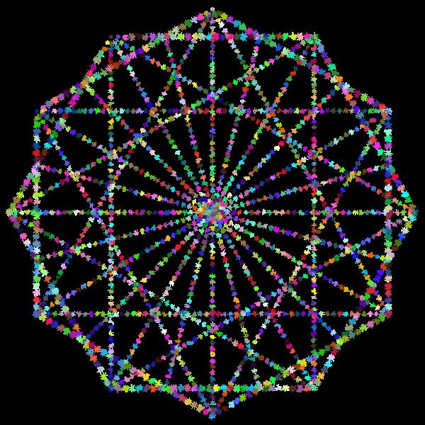 Simple Geometric Design Line Art Variation 2 Prismatic 2 No BG