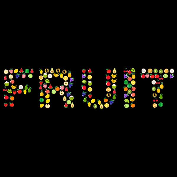Fruit Typography