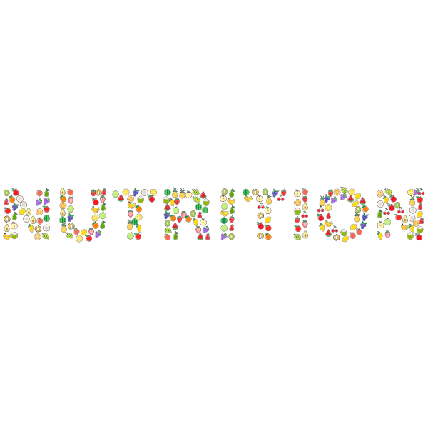 Nutrition Typography