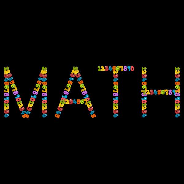 Number animals math typography
