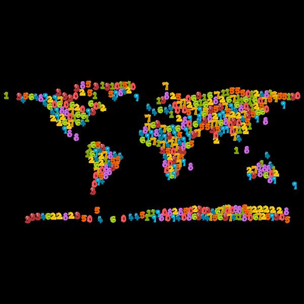 Number Animals World Map