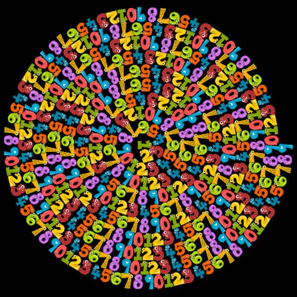 Number Animals Spiral