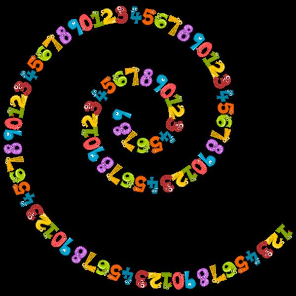 Number Animals Spiral II