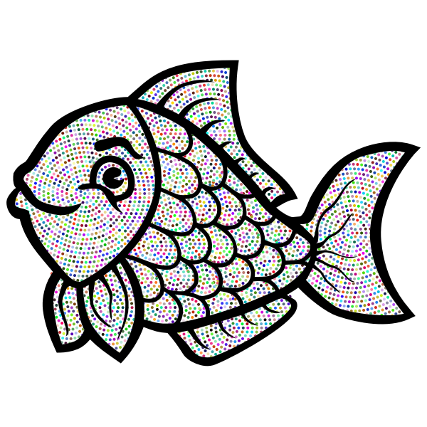 Fish Line Art Enhanced No BG
