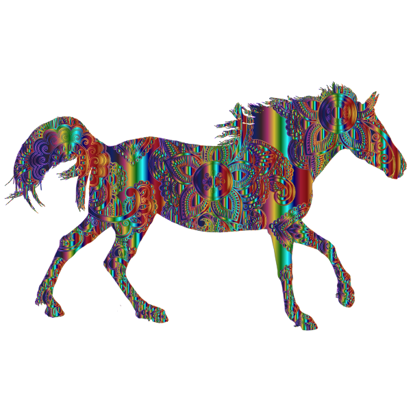 Decorated Horse Psychedelic