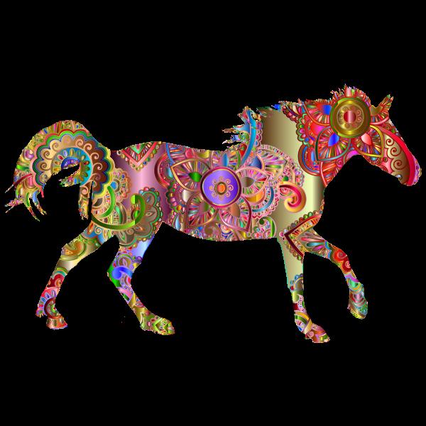 Decorated Horse Prismatic 4