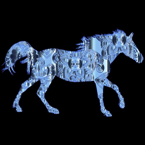 Decorated Horse Cobalt Chrome