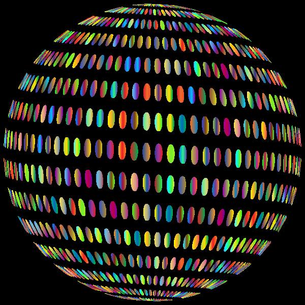 Spiral Circles Sphere Polyprismatic