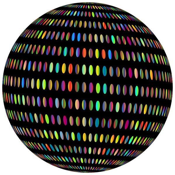 Spiral Circles Sphere Prismatic With BG
