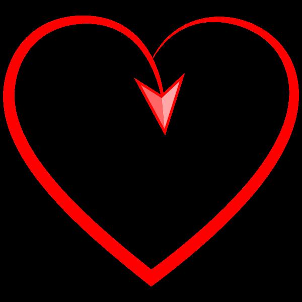 Stylized Heart With Arrow