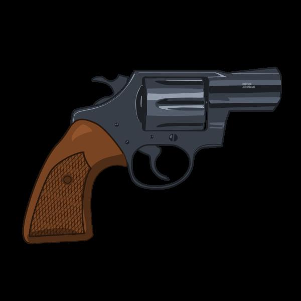 Mid detail snub nosed revolver