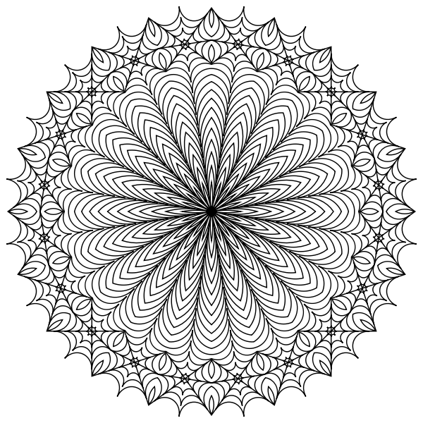 Mandala Line Art Design