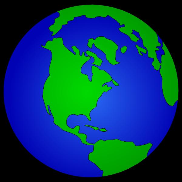 Simple Blue Earth Globe