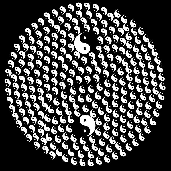 Yin Yang Fractal | Free SVG