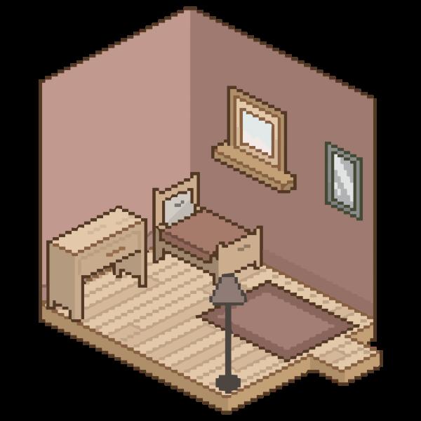 Isometric Pixel Room