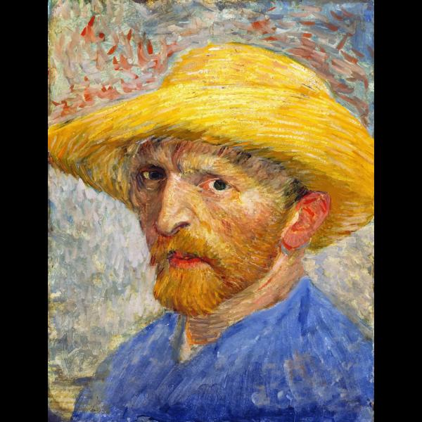 Van Gogh Self Portrait With Straw Hat 1887