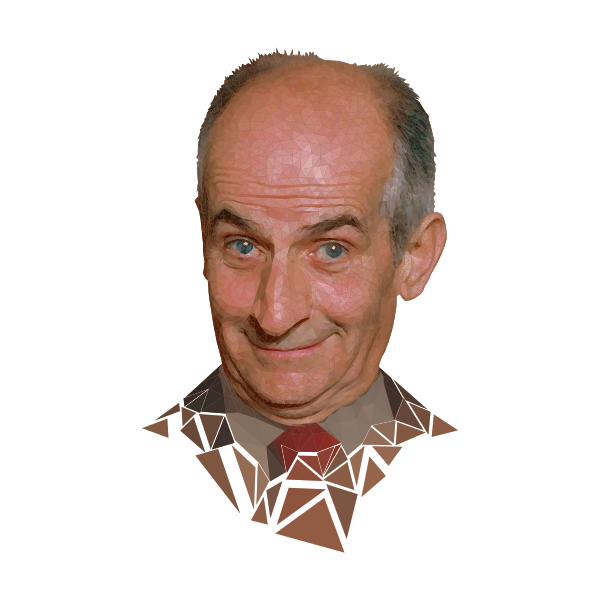 Low poly Louis de Funès