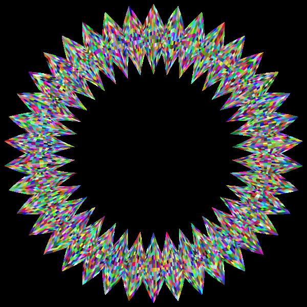 Stylized Checkered Geometric Frame 3 Prismatic