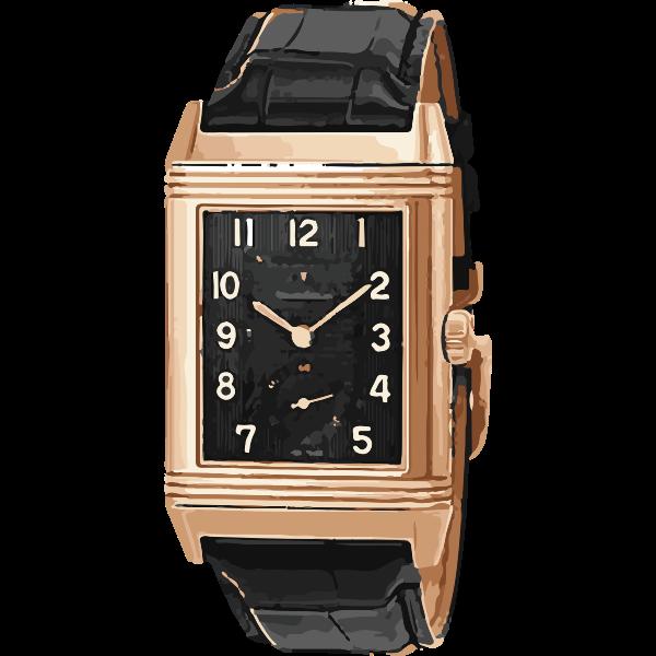 vintage classic black swiss watch - horlogerie
