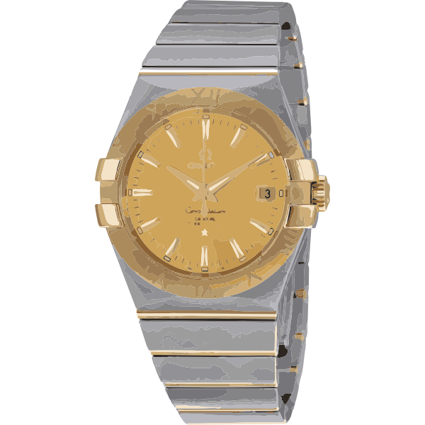 swiss watch in white gold and yellow gold - horlogerie