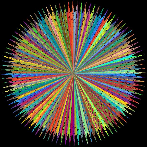 Abstract Vortex 83 Polyprismatic No BG