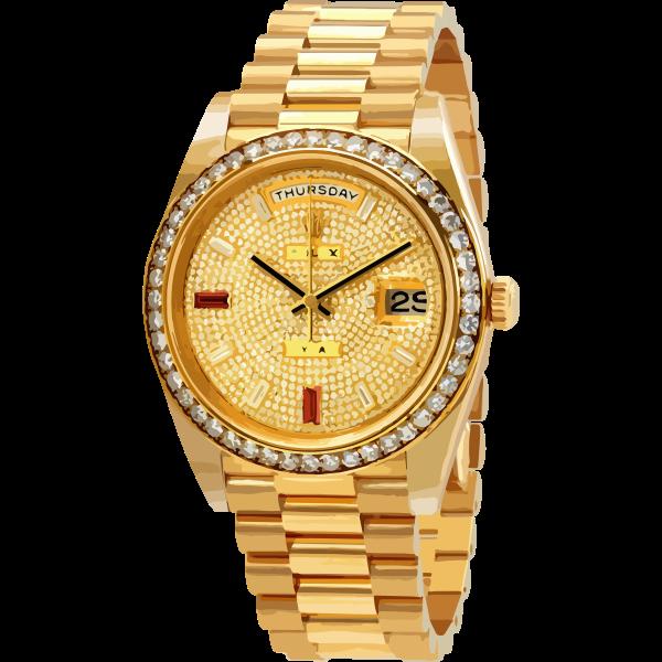 swiss watch in diamonds and ruby - horlogerie