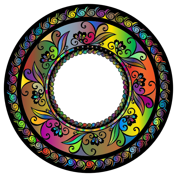 Colorful Mandala ornament