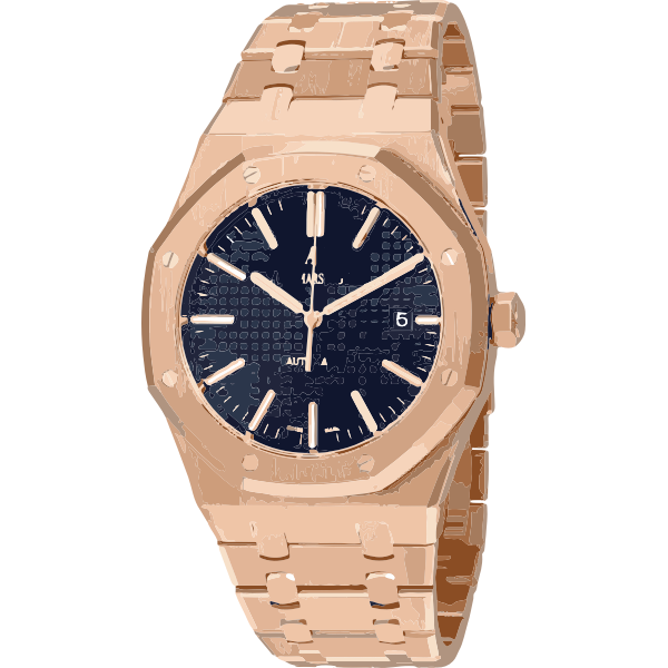 swiss watch in rose gold - horlogerie