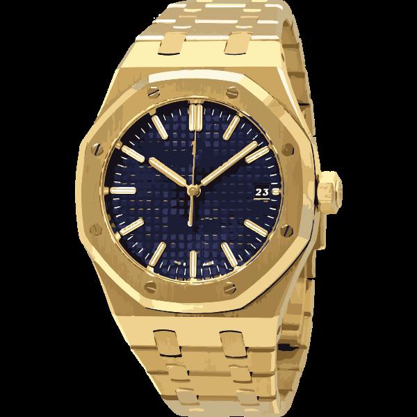 swiss watch in yellow gold - horlogerie
