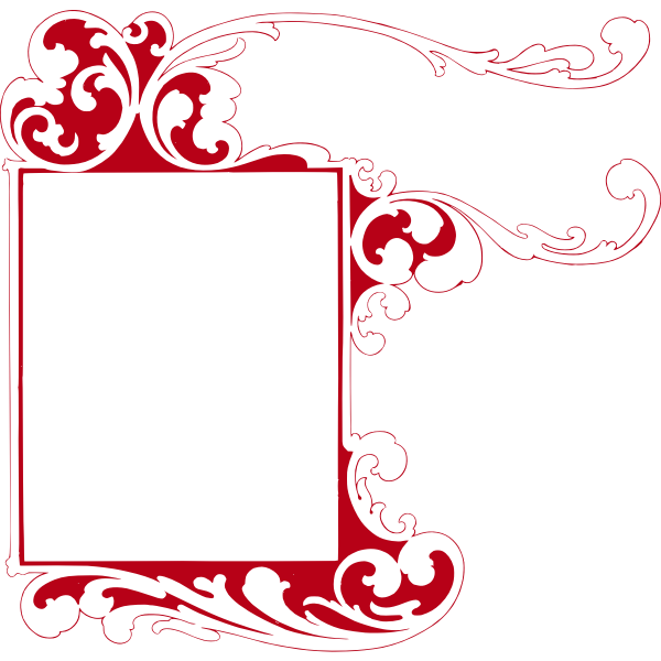 Curly Red Frame