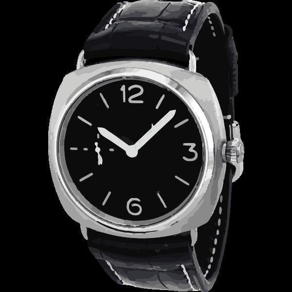 vintage black swiss watch - horlogerie