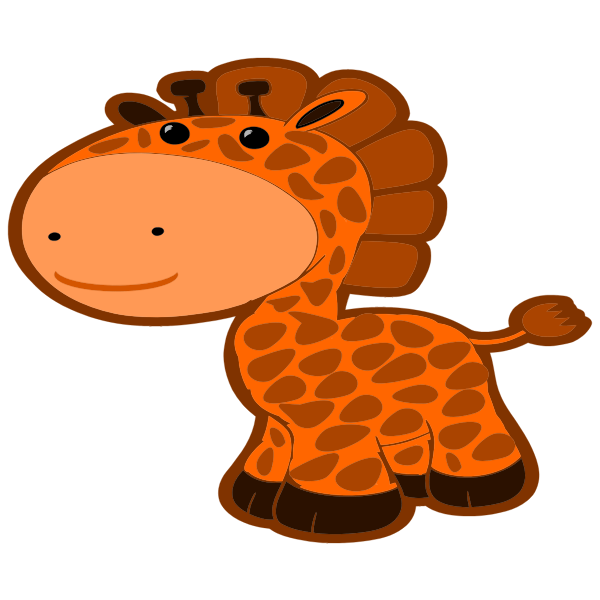 Cartoon Style Giraffe